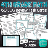 4th Grade Math Review Task Cards - EOG Prep!