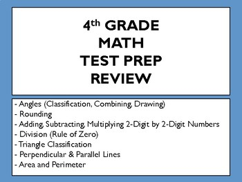 4th Grade Math Review (Test Prep Review)