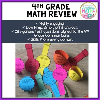 4th Grade Math Review Test Prep Game Multiple Skills