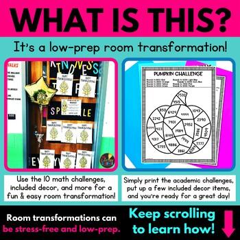 4th Grade Math Review   Thanksgiving Classroom Transformation