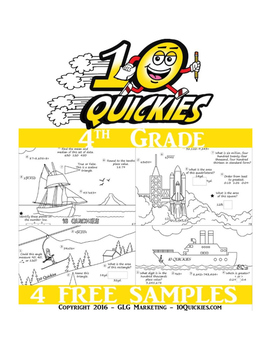 4th Grade - 4 FREE Math Review Worksheets
