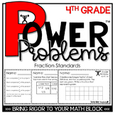 4th Grade Word Problems   Math Spiral Review Fractions DIS