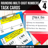 Rounding Multi-Digit Numbers Task Cards 4th Grade Math Centers