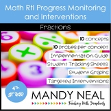 4th Grade Math RtI Assessments & Intervention Binder for Fractions Bundle