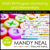 4th Grade Math RtI Assessments & Intervention Binder for NBT Bundle