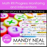 4th Grade Math RtI Assessments & Intervention Binder for OA Bundle