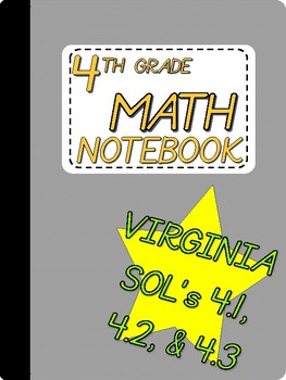 2017 - 2018 4th Grade Math SOL Notebook - Number and Number Sense