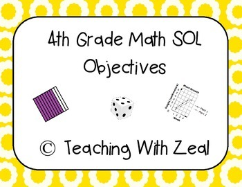 4th Grade Math SOL Objectives