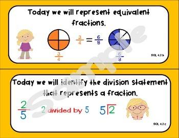 4th Grade Math SOL Objectives