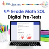 4th Grade Math SOL Pre-Assessments in Google Forms™   Dist