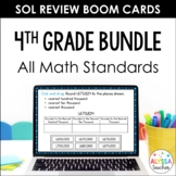 4th Grade Math SOL Review TEI Digital Task Cards Bundle (Boom Cards)