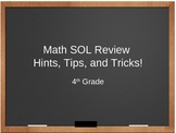 4th Grade Math SOL Review - Hints, Tips, and Tricks!