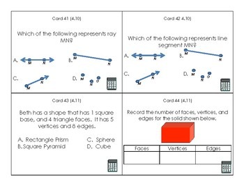 4th Grade Math SOL Review Task Cards