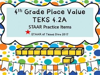 4th Grade Math STAAR Bundle Teks 4.2A