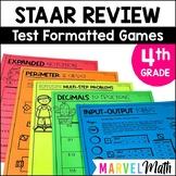 4th Grade Math STAAR Prep: 14 No Prep Games by Marvel Math