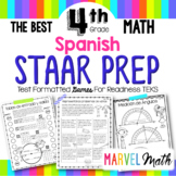 4th Grade Math STAAR Prep: 14 SPANISH No Prep Games