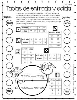 4th Grade Math STAAR Prep: 14 SPANISH No Prep Games