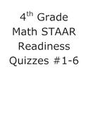 4th Grade Math STAAR Ready Quizzes #1-6