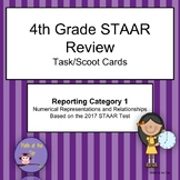 4th Grade Math STAAR Reporting Category 1 Task/Scoot Cards - 2017 STAAR