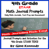 4th Grade STAAR Math Journals, Prompts and Activities For All TEKS