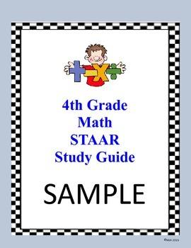 4th Grade Math NEW TEKS STAAR Study Guide
