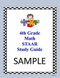 4th Grade Math NEW TEKS STAAR Study Guide