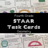 STAAR TASK CARDS TEKS 4.7C 4.6A 4.6B 4.6C 4.7D 4.7E 4TH GRADE GEOMETRY