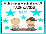 4th Grade Math STAAR TASK Cards- SET #2