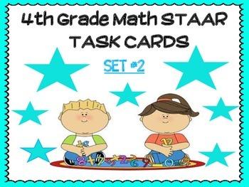 4th Grade Math STAAR TASK Cards- SET #2