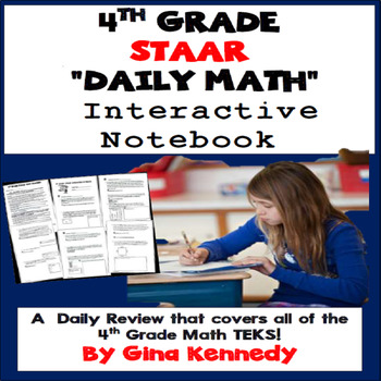 4th Grade STAAR Math Daily Test-Prep, Challenging, Easy-Pr