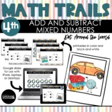 4th Grade Math Scavenger Hunt   Add & Subtract Mixed Numbers with Like Den