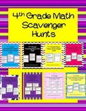 4th Grade Math Scavenger Hunts Review