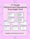 4th Grade Math Scavenger Hunts Patterns and Sequences