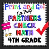 4th Grade Math Skills: Partners Check