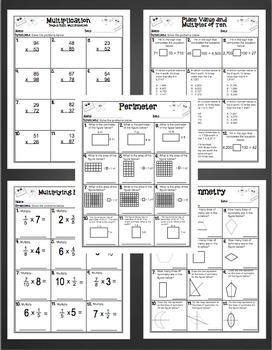 4th Grade Math Skills: Print and Go!