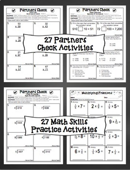 4th Grade Math Skills Print and Go Bundle