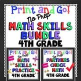 4th Grade Math Skills Print and Go Bundle