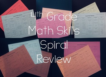4th Grade Math Skills Spiral Review