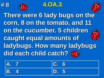 4th Grade Math - Solve multistep word problems using the four operations 4.OA.3