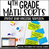 4th Grade Math Sorts