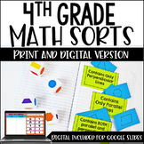Math Sorts | 4th Grade Math Activities