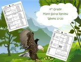 4th Grade Math Spiral Review Bundle (Common Core aligned) Weeks 1-36 - SAVE $7