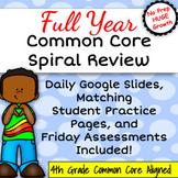 4th Grade Math Spiral Review, Daily Common Core Minilesson
