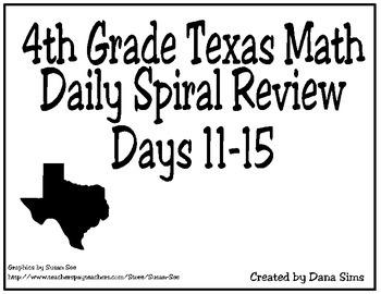 4th Grade Math Spiral Review Days 11-15