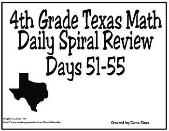 4th Grade Math Spiral Review Days 51-55