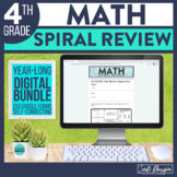 4th Grade Math Spiral Review Distance Learning Digital Sel
