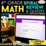 4th Grade Math Spiral Review   Google Classroom Distance L