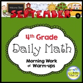 4th Grade Math Spiral Review SEPTEMBER Morning Work or Warm ups