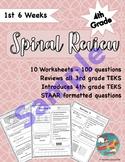 4th Grade Math Spiral Review (TEKS Aligned) Sample