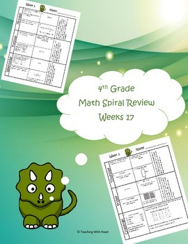 4th Grade Math Spiral Review Free Sample (TEKS aligned) Week 17